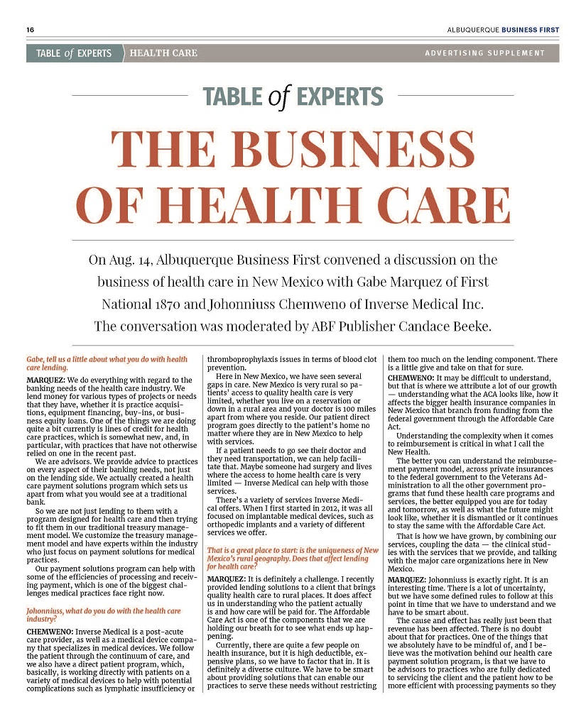 image for The Business of Health Care