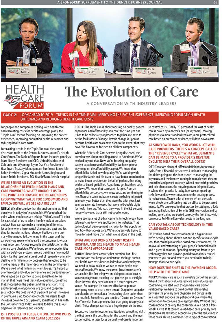 image for Healthcare Forum: The Evolution of Care